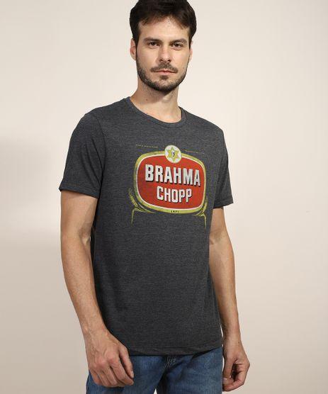 Camiseta-Masculina-Brahma-Chopp-Manga-Curta-Gola-Careca-Cinza-Mescla-Escuro-9973714-Cinza_Mescla_Escuro_1