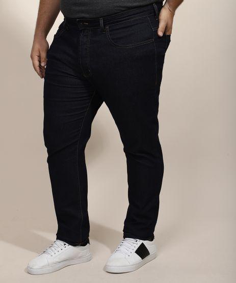 Calca-Jeans-Masculina-Plus-Size-Slim-Azul-Escuro-9970240-Azul_Escuro_1