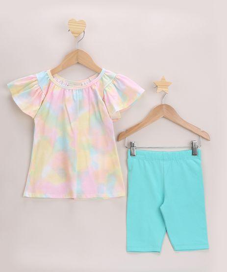 Conjunto-Infantil-Blusa-Estampada-emTie-Dye-Rosa---Bermuda-Verde-Agua-9968648-Verde_Agua_1