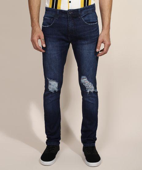 Calca-Jeans-Masculina-Skinny-Destroyed-Azul-Escuro-9965004-Azul_Escuro_1