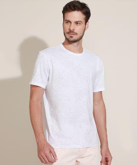 Camiseta-Masculina-Estampada-Folhagem-Manga-Curta-Gola-Careca-Branca-9970578-Branco_1