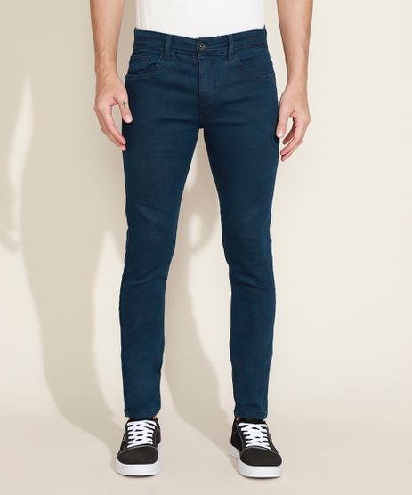 Calca-Jeans-Masculina-Skinny-com-Bolsos-Azul-Escuro-9963422-Azul_Escuro_1