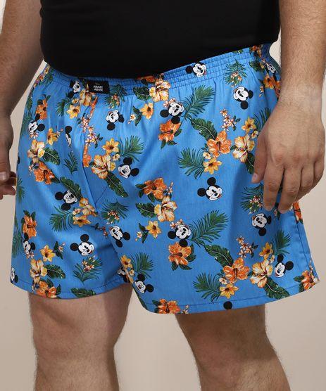 Samba-Cancao-Masculina-Plus-Size-Mickey-Havaiano-Estampado-Azul-9964660-Azul_1