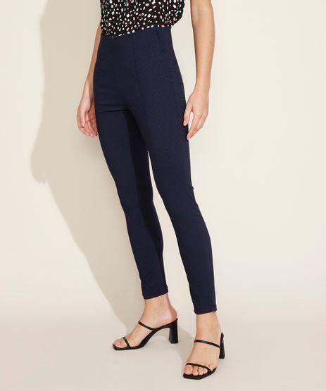 Calca-legging-Feminina-Bengaline-Estampada-de-Poa-com-Recorte-Cintura-Media-Azul-Marinho-9949451-Azul_Marinho_1
