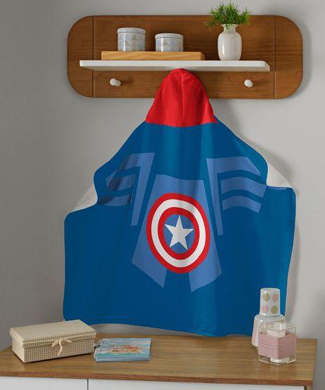Toalha-de-Banho-Infantil-Capitao-America-Com-Capuz-Azul-Royal-9955926-Azul_Royal_1