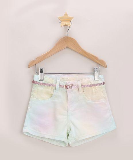 Short-de-Sarja-Infantil-Estampado-Tie-Dye-com-Cinto-e-Brilho-Rosa-9965693-Rosa_1