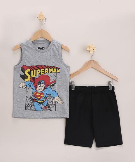Conjunto-Infantil-Super-Homem-de-Regata-Cinza-Mescla---Bermuda-em-Moletom-Preto-9968181-Preto_1