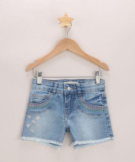 Short-Jeans-Infantil-com-Bordado-e-Barra-Desfiada-Azul-Medio-9965696-Azul_Medio_1