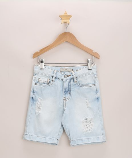 Bermuda-Jeans-Infantil-Destroyed-com-Bolsos-Azul-Claro-9968899-Azul_Claro_1