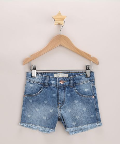 Short-Jeans-Infantil-Estampado-de-Coracoes-com-Barra-Desfiada-Azul-Medio-9971381-Azul_Medio_1