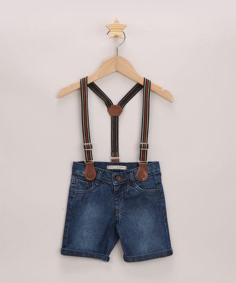 Short-Jeans-Infantil-com-Suspensorio-Listrado-Azul-Medio-9964607-Azul_Medio_1
