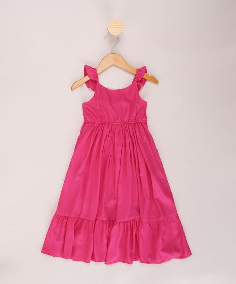 Vestido-Infantil-Longo-com-Recortes-e-Babados-Alca-Media-Decote-Redondo-Rosa-9965251-Rosa_1