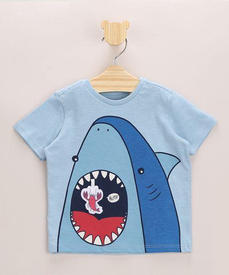 Camiseta-Infantil-Tubarao-Estampa-Interativa-Manga-Curta-Gola-Careca-Azul-9964038-Azul_1