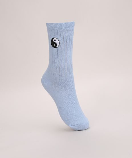 Meia-Feminina-Cano-Alto-com-Bordado-Yin-e-Yang-Azul-9975237-Azul_1