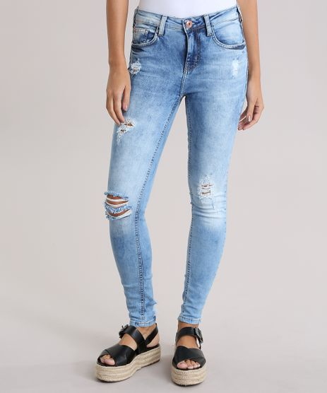 Calca-Jeans-Super-Skinny-Destroyed-Azul-Claro-8832730-Azul_Claro_1