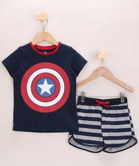 Pijama-Infantil-Capitao-America-com-Listras-Manga-Curta-Azul-Marinho-9966418-Azul_Marinho_1