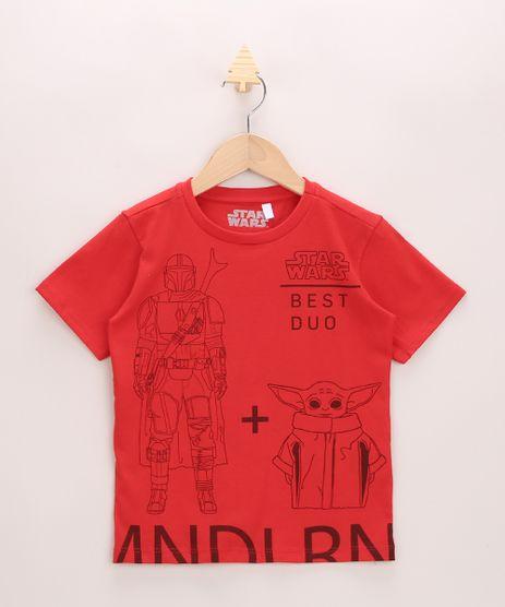 Camiseta-Infantil-The-Mandalorian-Star-Wars-Manga-Curta-Vermelha-9975996-Vermelho_1