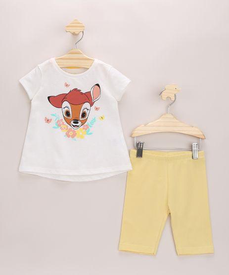 Conjunto-Infantil-Bambi-de-Blusa-Manga-Curta-Off-White---Bermuda-Amarela-9965939-Amarelo_1