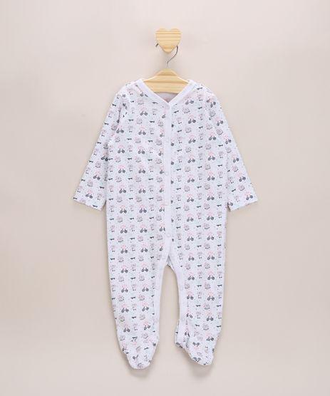 Macacao-Infantil-Estampado-de-Bichinhos-com-Pezinho-Manga-Longa-Branco-9957012-Branco_1