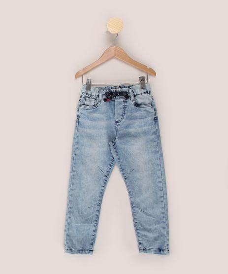 Calca-Jeans-Infantil-Jogger-Marmorizada-com-Pences-e-Cordao-Azul-Claro-9968904-Azul_Claro_1