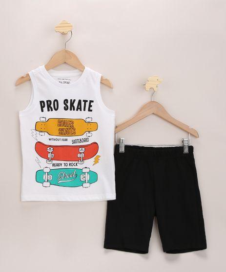 Conjunto-Infantil-de-Regata-Skate-Branca---Bermuda-de-Moletom-Preta-9968195-Preto_1