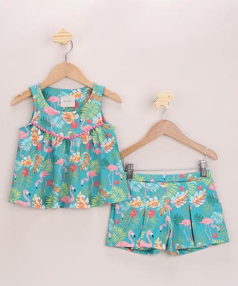 Conjunto-Infantil-de-Regata-com-Pompom---Short-Texturizados-Estampados-de-Flamingos-Verde-Agua-9966540-Verde_Agua_1