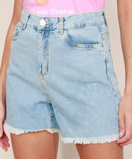 Short-Jeans-Feminino-Mindset-Cintura-Super-Alta-com-Barra-Desfiada-Azul-Claro-9980413-Azul_Claro_1