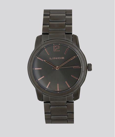 bae1df4fb8d Relógio Analógico Lince Feminino - LRY4449L G2GX Grafite - cea