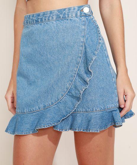 Saia-Jeans-Feminina-Curta-Envelope-com-Babados-Azul-Medio-9971531-Azul_Medio_1