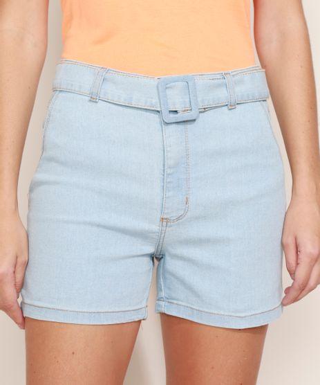 Short-Jeans-Feminino-Cintura-Alta-com-Cinto-Azul-Claro-9974974-Azul_Claro_1