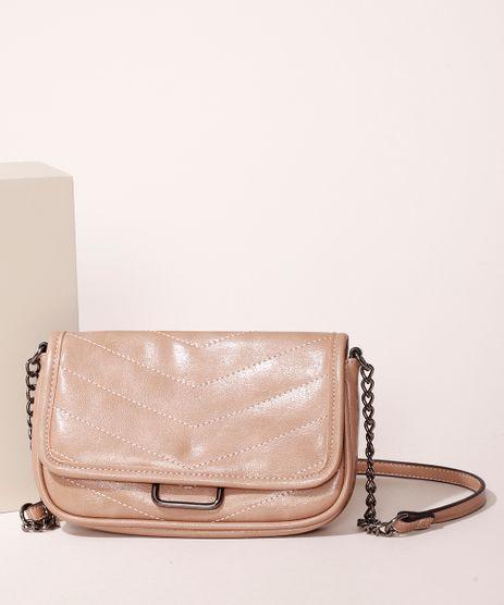 Bolsa-Feminina-Transversal-Pequena-em-Matelasse-com-Corrente-Bege-9915803-Bege_1