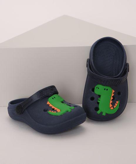 Babuche-Infantil-LueLua-Dinossauro-Azul-Marinho-9974383-Azul_Marinho_1