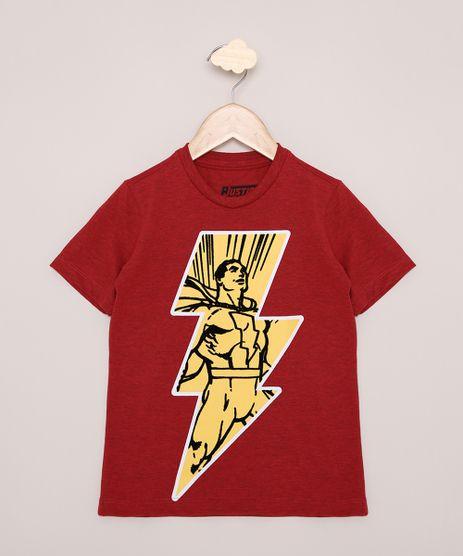 Camiseta-Infantil-Shazam-Manga-Curta-Vermelha-9968532-Vermelho_1
