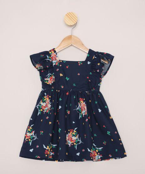 Vestido-Infantil-Estampado-Floral-com-Babado-Azul-Marinho-9964373-Azul_Marinho_1