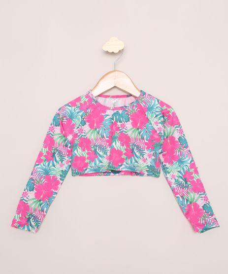 Blusa-de-Praia-Infantil-Cropped-Estampada-Floral-Manga-Longa-com-Protecao-UV50--Rosa-9965860-Rosa_1