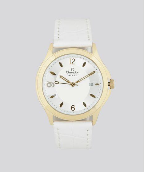 a767b4c435c Relógio Analógico Champion Feminino - CA20554M Branco - cea