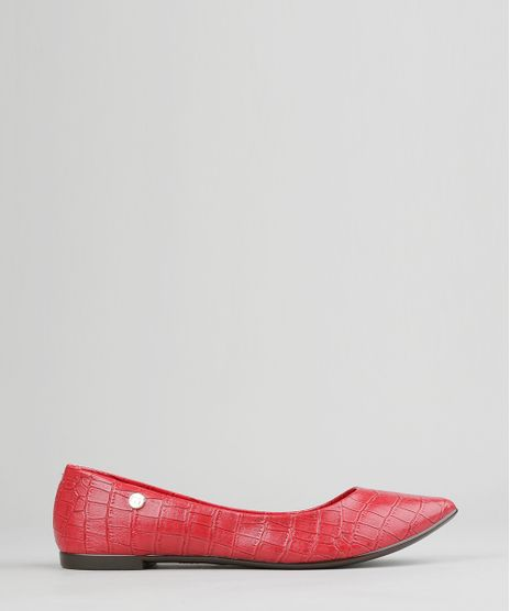 Sapatilha-Bico-Fino-Moleca-Texturizada-Vermelha-9005213-Vermelho_1