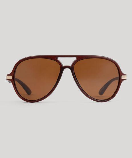 Oculos-de-Sol-Redondo-Feminino-Oneself-Marrom-9038898-Marrom_1