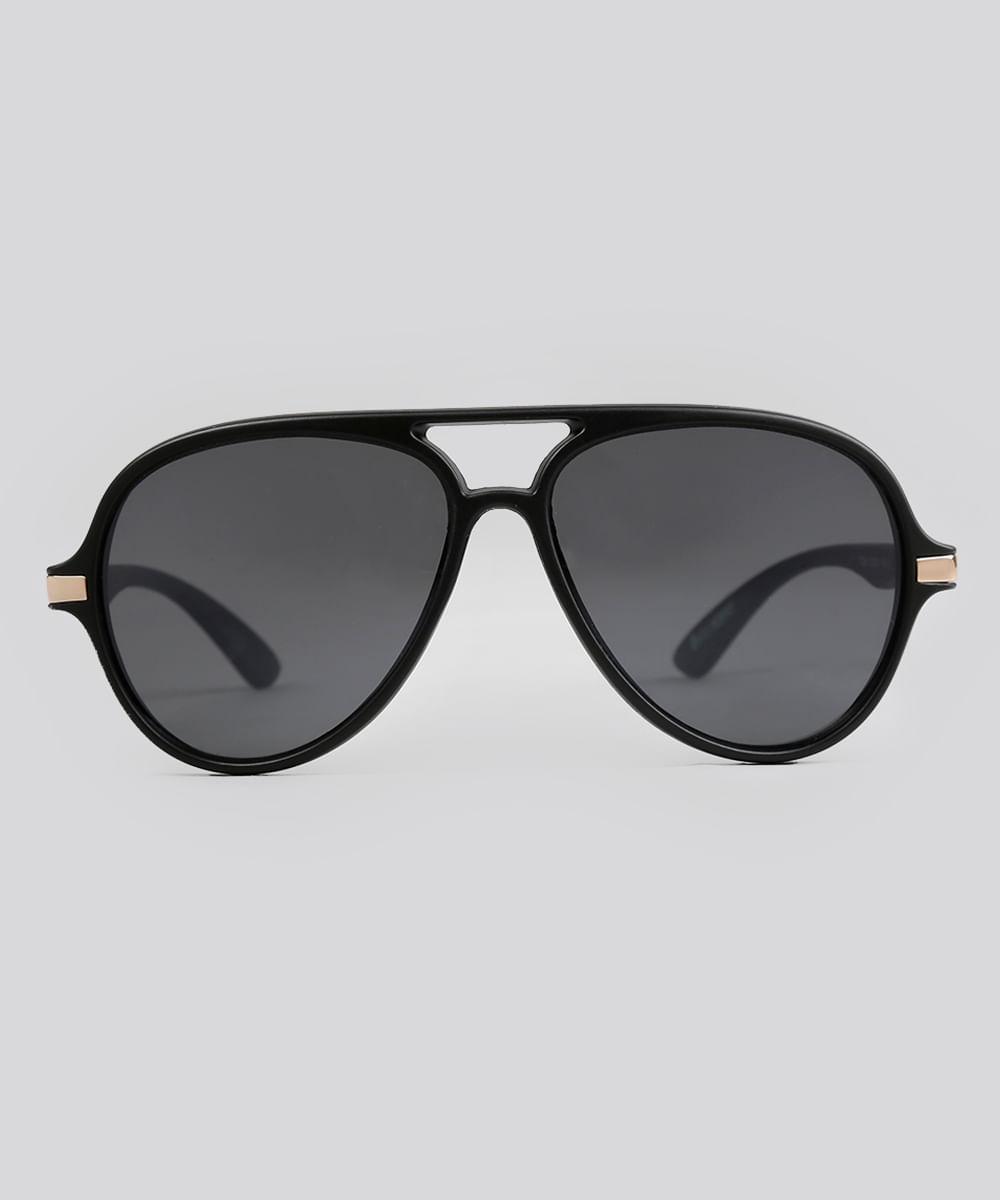 7d4d96864c7e7 Óculos de Sol Redondo Feminino Oneself Preto - ceacollections