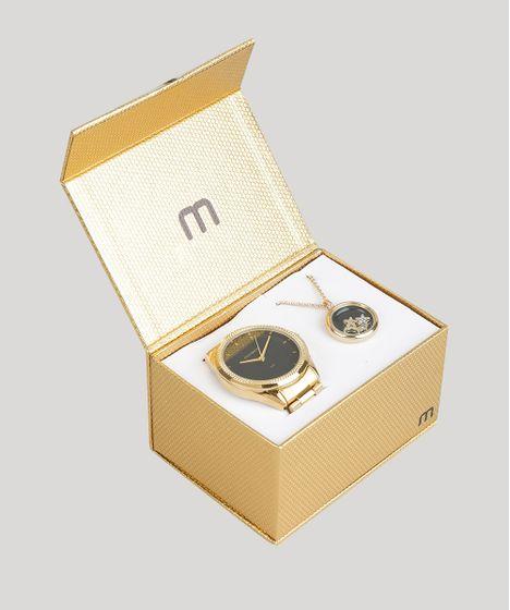 d42744b9042 Kit de Relógio Analógico Mondaine Feminino + Colar - 53538LPMVDE1K ...