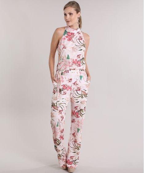 d0e768840 Macacao-Estampado-Floral-com-Laco-Rose-8960249-Rose 1 ...