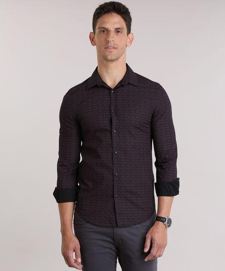 Camisa-Slim-Estampada-Floral-Preta-8826506-Preto_1