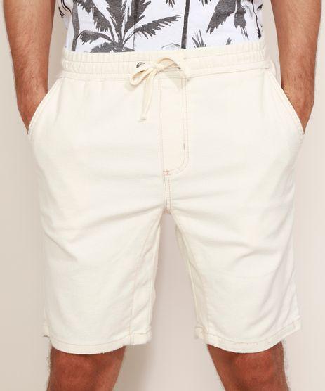 Bermuda-de-Sarja-em-Moletom-Masculina-Slim-com-Cordao-Off-White-9969048-Off_White_1