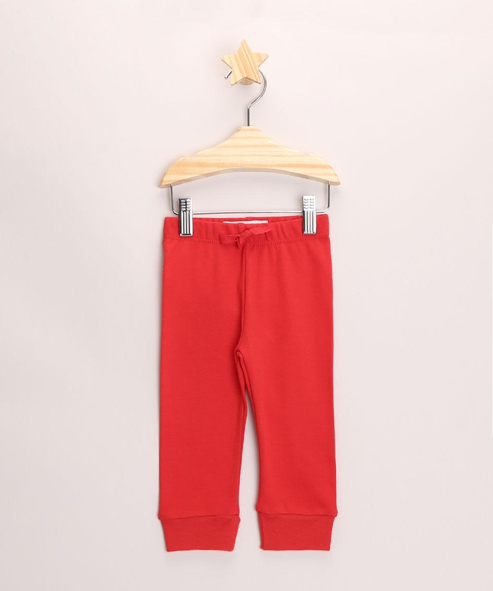Calça Infantil Jogger Básica Vermelha