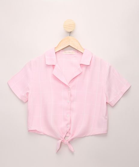 Camisa-Juvenil-Estampada-Geometrica-com-No-Manga-Curta-Rosa-Claro-9975164-Rosa_Claro_1