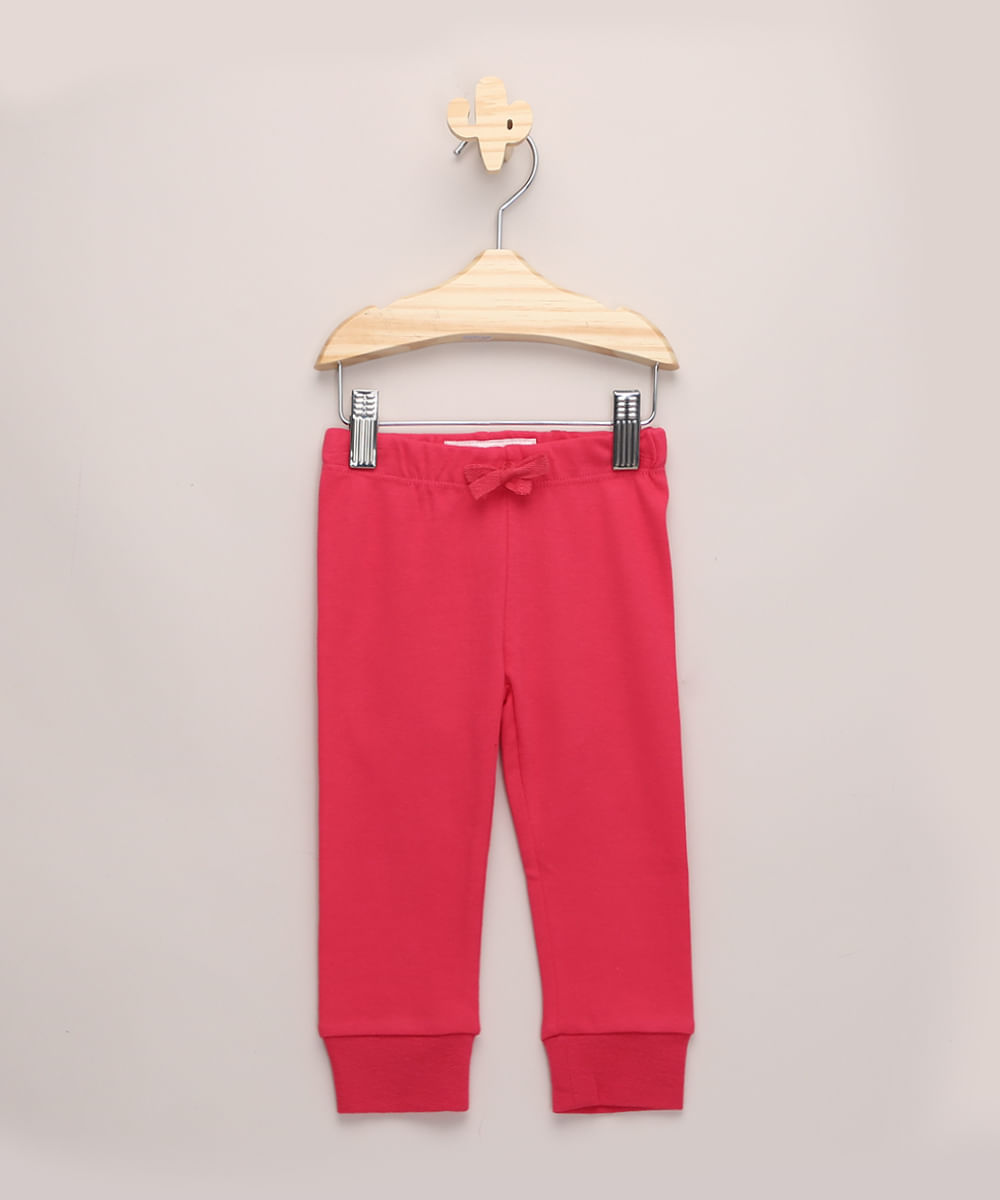Calça Infantil Jogger Básica Pink