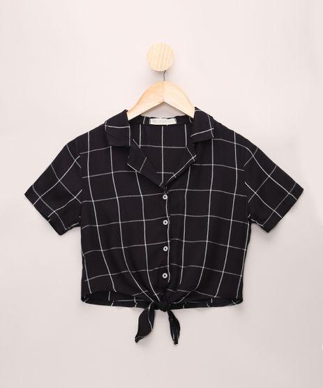 Camisa-Juvenil-Estampada-Geometrica-com-No-Manga-Curta-Preta-9967912-Preto_1