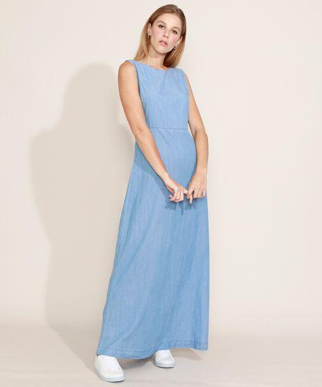 Vestido-Jeans-Feminino-Mindset-Longo-com-Vazado-Sem-Manga-Azul-Claro-9979867-Azul_Claro_1