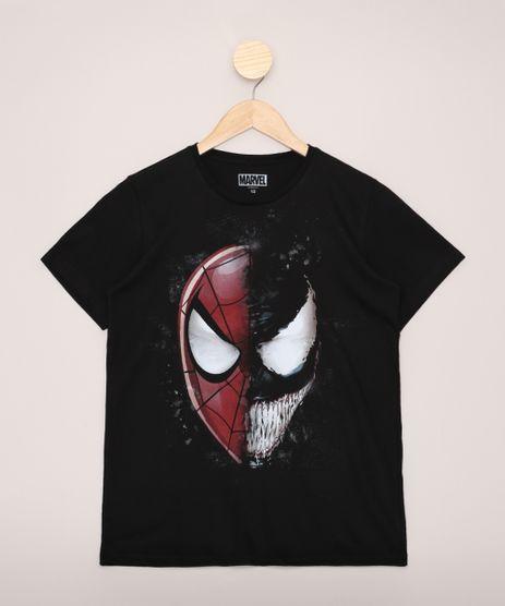 Camiseta-Juvenil-Homem-Aranha-e-Venom-Manga-Curta-Preto-9970347-Preto_1