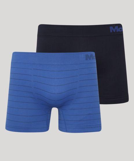 Kit-de-2-Cuecas-Masculinas-Mash-Boxer-Sem-Costura-Azul-9973347-Azul_1